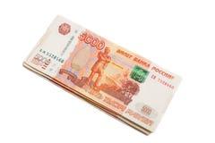 Ρωσικά πέντε χιλιοστά τραπεζογραμμάτια Στοκ Φωτογραφίες
