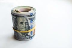 Ρωσικά ρούβλια και αμερικανικά δολάρια στοκ φωτογραφία με δικαίωμα ελεύθερης χρήσης