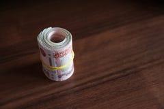 Ρωσικά ρούβλια και αμερικανικά δολάρια στοκ φωτογραφίες με δικαίωμα ελεύθερης χρήσης