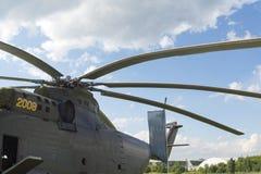Ρωσικά στρατιωτικά ελικόπτερα στη διεθνή έκθεση Στοκ φωτογραφίες με δικαίωμα ελεύθερης χρήσης