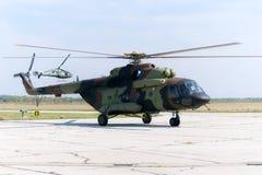 Ρωσικά στρατιωτικά mi-17 Στοκ φωτογραφία με δικαίωμα ελεύθερης χρήσης