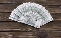 Ρωσικά τραπεζογραμμάτια των ρουβλιών finances νόμισμα στοκ εικόνες με δικαίωμα ελεύθερης χρήσης