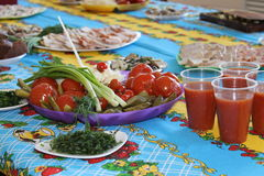 Ρωσικά τρόφιμα, ase ρωσική γιορτή Ñ  Στοκ Εικόνα