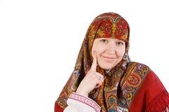 ρωσικά χαμόγελα μαντίλι κ&omi Στοκ εικόνες με δικαίωμα ελεύθερης χρήσης
