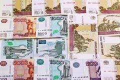 Ρωσικά χρήματα. Υπόβαθρο Στοκ φωτογραφία με δικαίωμα ελεύθερης χρήσης