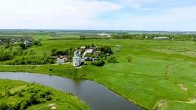 Ρωσικά χωριά, γραφική άποψη επαρχίας, περιοχή του Βλαντιμίρ απόθεμα βίντεο