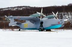 Ρωσικά ASW αμφίβια αεροσκάφη είμαι-12 Στοκ φωτογραφία με δικαίωμα ελεύθερης χρήσης