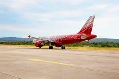 Ρωσικές αερογραμμές airbus επιβατών A319 στοκ εικόνες με δικαίωμα ελεύθερης χρήσης