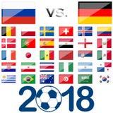 Ρωσικές εθνικές ομάδες παιχνιδιών ποδοσφαίρου Στοκ φωτογραφία με δικαίωμα ελεύθερης χρήσης