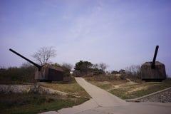 Ρωσικές καταστροφές Lushun Dalian Liaoning Κίνα οχυρών Στοκ Εικόνα