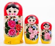 Ρωσικές κούκλες Στοκ εικόνα με δικαίωμα ελεύθερης χρήσης