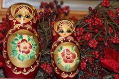Ρωσικές κούκλες Στοκ εικόνες με δικαίωμα ελεύθερης χρήσης