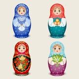 Ρωσικές κούκλες - matryoshka επίσης corel σύρετε το διάνυσμα απεικόνισης Στοκ Εικόνα