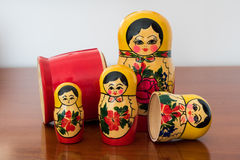 Ρωσικές παραδοσιακές κούκλες Matrioshka Στοκ Φωτογραφία