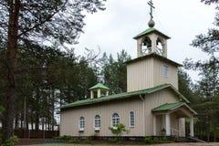 Ρωσική εκκλησία του Ροβανιέμι, Lapland. Στοκ Εικόνα