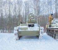 Ρωσική δεξαμενή τ-70 Δεύτερου Παγκόσμιου Πολέμου Στοκ Εικόνες