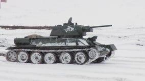 Ρωσική δεξαμενή T34 απόθεμα βίντεο