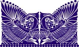 Ρωσική διακόσμηση δερματοστιξιών διακόσμηση λαογραφίας με το πουλί Στοκ φωτογραφία με δικαίωμα ελεύθερης χρήσης