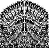 Ρωσική διακόσμηση δερματοστιξιών διακόσμηση λαογραφίας με το πουλί Στοκ Εικόνα