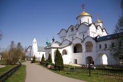 Ρωσική ιστορική παλαιά πόλη Σούζνταλ - το χρυσό δαχτυλίδι, ένα αρχαίο μοναστήρι, θέσεις τουριστών Στοκ εικόνες με δικαίωμα ελεύθερης χρήσης