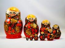 Ρωσική ξύλινη κούκλα Matreshka Στοκ εικόνα με δικαίωμα ελεύθερης χρήσης