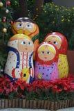 Ρωσική οικογένεια κουκλών Στοκ Εικόνα