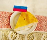 Ρωσική πίτα Στοκ εικόνα με δικαίωμα ελεύθερης χρήσης