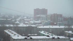 Ρωσική πόλη το χειμώνα απόθεμα βίντεο