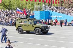 Ρωσική στρατιωτική μεταφορά στην παρέλαση την ετήσια ημέρα νίκης, Στοκ Φωτογραφίες