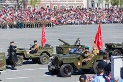 Ρωσική στρατιωτική μεταφορά στην παρέλαση την ετήσια ημέρα νίκης Στοκ φωτογραφίες με δικαίωμα ελεύθερης χρήσης