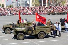 Ρωσική στρατιωτική μεταφορά στην παρέλαση την ετήσια ημέρα νίκης Στοκ Εικόνα