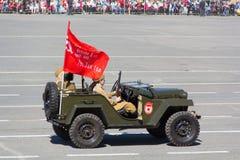 Ρωσική στρατιωτική μεταφορά στην παρέλαση την ετήσια ημέρα νίκης Στοκ εικόνες με δικαίωμα ελεύθερης χρήσης