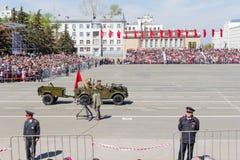 Ρωσική στρατιωτική μεταφορά στην παρέλαση την ετήσια ημέρα νίκης Στοκ Φωτογραφία