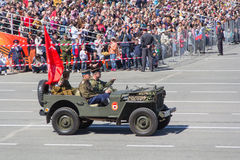 Ρωσική στρατιωτική μεταφορά στην παρέλαση την ετήσια ημέρα νίκης Στοκ Φωτογραφίες