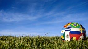 Ρωσική σφαίρα ποδοσφαίρου ομάδων για την αθλητική εκδήλωση της Ρωσίας στοκ φωτογραφία