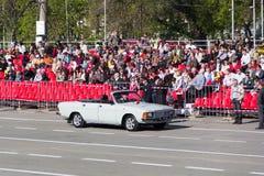 Ρωσική τελετή της στρατιωτικής παρέλασης ανοίγματος στον ετήσιο Victor Στοκ φωτογραφία με δικαίωμα ελεύθερης χρήσης