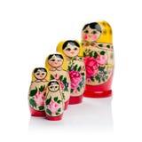 Ρωσική τοποθεμένος οικογένεια κουκλών Στοκ φωτογραφία με δικαίωμα ελεύθερης χρήσης