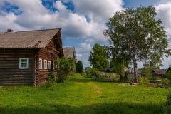 Ρωσική του χωριού άποψη Στοκ Φωτογραφία