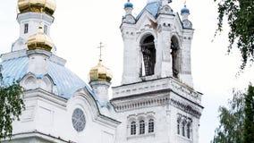 Ρωσική χριστιανική ναός ή εκκλησία απόθεμα βίντεο