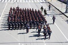 Ρωσικοί μαθητές στρατιωτικής σχολής στοκ φωτογραφία