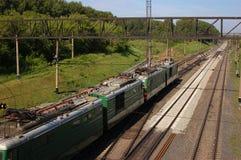 Ρωσικοί σιδηρόδρομοι Στοκ Φωτογραφίες