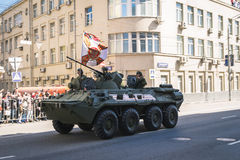 ρωσικοί στρατιώτες παρελάσεων στρατού βαδίζοντας Στοκ εικόνες με δικαίωμα ελεύθερης χρήσης