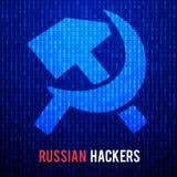 Ρωσικοί χάκερ αφηρημένη μήτρα ανασκόπησης Ελεύθερη απεικόνιση δικαιώματος