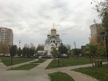 Ρωσικός καθεδρικός ναός στοκ φωτογραφίες