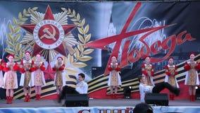 Ρωσικός λαϊκός χορός Ο εορτασμός της ημέρας νίκης στις 9 Μαΐου φιλμ μικρού μήκους