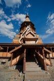 ρωσικός ξύλινος εκκλησ&iot Στοκ εικόνες με δικαίωμα ελεύθερης χρήσης