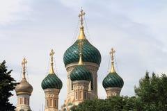 Ρωσικός ορθόδοξος καθεδρικός ναός στη Νίκαια, Γαλλία Στοκ Φωτογραφία