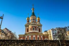 Ρωσικός ορθόδοξος καθεδρικός ναός στη Βιέννη στοκ εικόνες