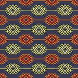Ρωσικός, ουκρανικός και Σκανδιναβικός εθνικός πλέκει το ορισμένο σχέδιο, χρώματα κρητιδογραφιών απεικόνιση αποθεμάτων