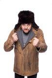 Ρωσικό άτομο έτοιμο για μια πάλη Στοκ Φωτογραφία